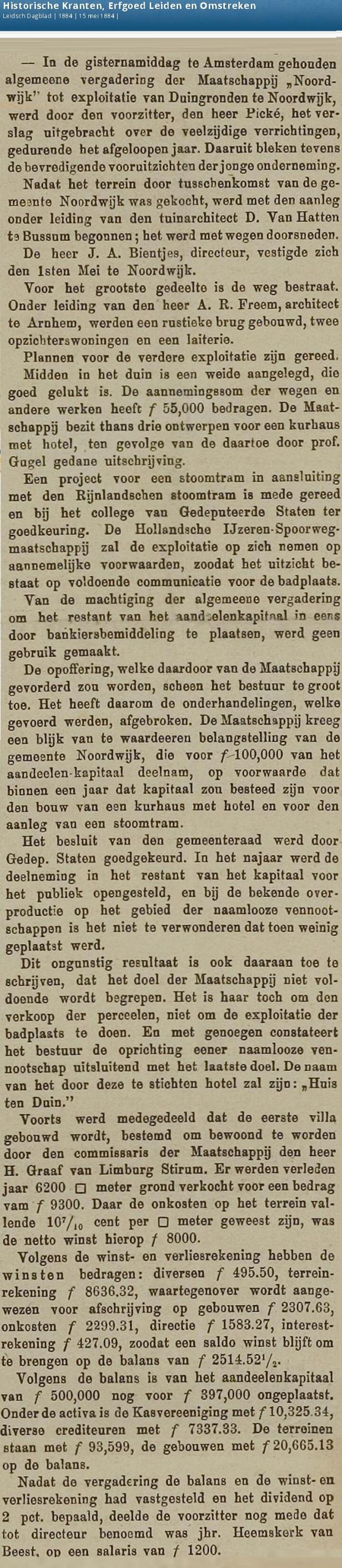 Maatschappij Noorwijk
